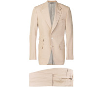 straight-fit two piece suit