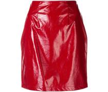 vinyl pencil mini skirt