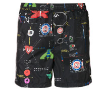 video games print swim shorts