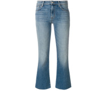 Selena Mid Rise Crop Bootcut jeans
