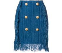 button-embellished knit skirt