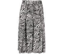 Faltenrock mit Zebra-Print
