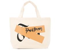 Kleiner Shopper mit Logo-Patch