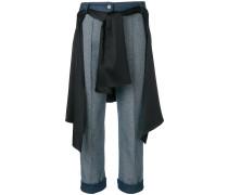 Cropped-Jeans mit Hemd
