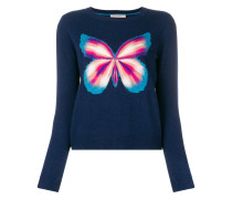 Pullover mit Schmetterlings-Print