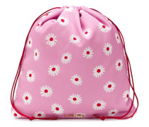 daisy print drawstring purse
