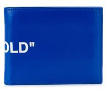 Portemonnaie mit Slogan