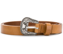 engraved buckle belt