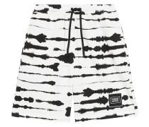 Shorts mit Wasserfarben-Print