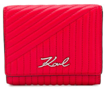 K/Signature quilted wallet
