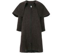 Weiter Mantel mit Oversized-Kragen