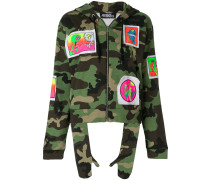 camouflage patch hoodie