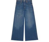 Weite Jeans mit Patch