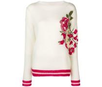 Pullover mit Rosenmotiv