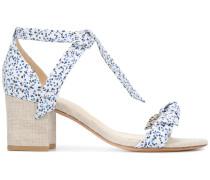 Clarita printed ankle-tie sandals