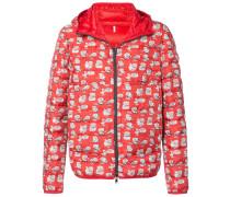 cartoon print hooded padded jacket
