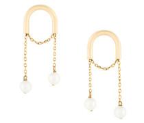 hula hoop pearl drop earrings