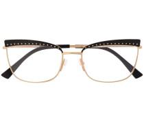 Brille mit eckigen Gläsern