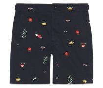 Shorts aus Baumwolle mit Stickerei