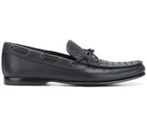Loafer mit gewebtem Einsatz