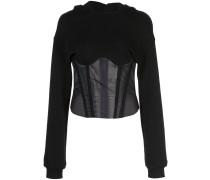 Sweatshirt im Hybrid-Look