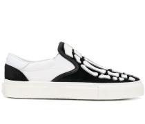 Slip-On-Sneakers mit Skelett