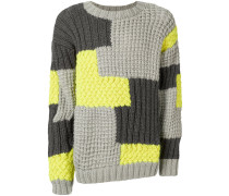 Wollpullover in Patchwork-Optik