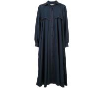 Oversized-Mantel mit Kontrastnähten