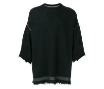 Ausgefranstes Oversized-Sweatshirt
