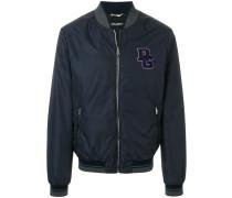 logo patch bomber jacket