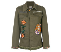 embroidered fitted jacket