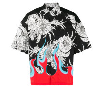 Cuban collar dahlia shirt