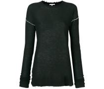 distressed edge sweater