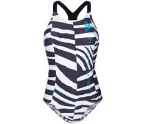 Badeanzug mit Zebra-Print
