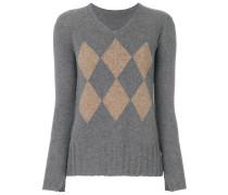 Pullover mit Rauten-Print