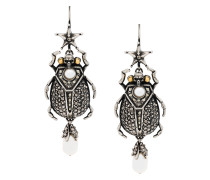 skull insect earrings