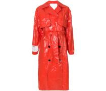 buttoned up rain coat