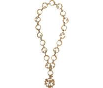 Lange Halskette mit doppeltem Fragezeichen