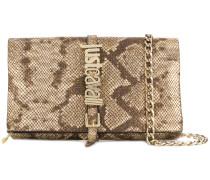 snakeskin effect crossbody bag