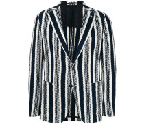 double pocket striped blazer