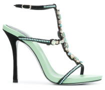 beaded strappy high heel sandal