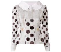 embroidered polka dot jumper