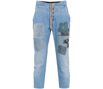 Jeans im Patchwork-Design