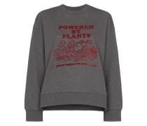 "Sweatshirt mit ""Powered by Plants""-Print"