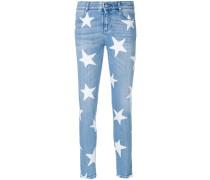 Skinny-Jeans mit Sterne-Print