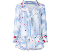 embroidered peplum shirt