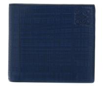 patterned logo embossed wallet