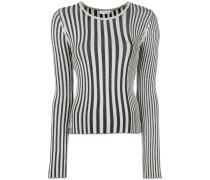 Schmaler Pullover mit Streifenmuster