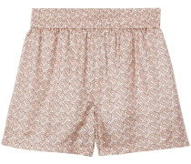 Shorts mit Monogramm