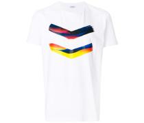 colour-block print T-shirt